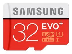 Samsung paměťová karta 32GB EVO Plus Micro SDHC UHS-I U1 Class 10 (čtení/zápis: 95/20MB/s) + SD adaptér