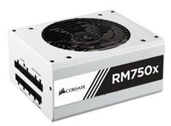 Corsair PC zdroj 750W RM750x modulární 80+ Gold 135mm ventilátor bílý