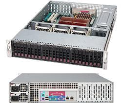 "SUPERMICRO 2U chassis 24x 2,5"" HS SAS/SATA (6x SFF 8087), 2x900W"