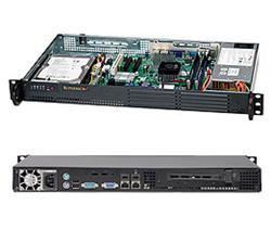 """SUPERMICRO mini1U chassis Zadní I/O, 1x 3,5"""" fixed HDD (nebo s MCP-220-00044-0N 2x2,5""""), 200W, pro Atom MB"""