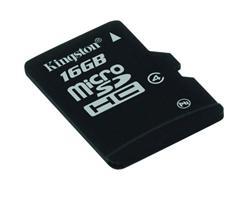 Kingston Micro SDHC karta 16GB Class 4 (rychlost 4MB/s)