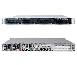 "SUPERMICRO 1U chassis 4x 3,5"" HS SAS/SATA, DVD, 2x450W,UIO"