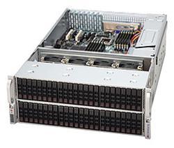 """SUPERMICRO 4U chassis 72x 2,5"""" HS SAS/SATA (48 front +24 rear) SAS2 (6Gb/s), 2x1400W (80PLUS Gold)"""