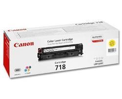 Canon Toner Cartridge 718Y pro LBP-7200 a MF8330/8350, žlutá, 2900str