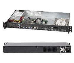 """SUPERMICRO mini1U chassis Přední I/O, 1x 3,5"""" fixed HDD (nebo s MCP-220-00044-0N 2x2,5""""), 200W, pro Atom MB"""