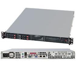 """SUPERMICRO 1U server 1x LGA1155, iC202, 4x DDR3 ECC, 4x SATA HS (2,5""""), 330W, IPMI"""