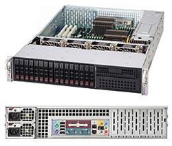 "SUPERMICRO 2U chassis 16x 2,5"" HS SAS/SATA (4x SFF 8087), 1x 5,25"", 2x920W (80PLUS Platinum)"