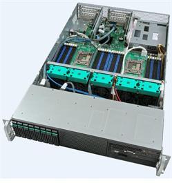 "Intel® Server System R2208GZ4GC 2xLGA2011,24xDIMMs,8x2,5"" HS SAS/SATA, 4x 1GbE,2x750W"