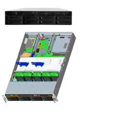 "Intel® Server System R2308GZ4GC 2xLGA2011,24xDIMMs,8x3,5"" HS SAS/SATA, 4x 1GbE,2x750W"