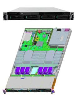 "Intel® Server System R1304GZ4GC 2xLGA2011,24xDIMMs,4x3,5"" HS SAS/SATA, 4x 1GbE,2x750W"