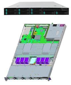 "Intel® Server System R1208GZ4GC 2xLGA2011,24xDIMMs,8x2,5"" HS SAS/SATA, 4x 1GbE,2x750W"