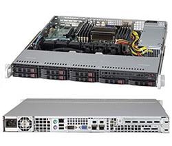 "SUPERMICRO 1U server 1x LGA2011, iC602, 8x DDR3 ECC R, 8x SATA HS (2,5""), 330W, IPMI"