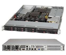 "SUPERMICRO 1U server 2x LGA2011, iC602, 16x DDR3 ECC R, 8x SATA HS (2,5""), 2x700W 80+, IPMI, WIO"
