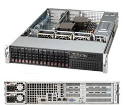 "SUPERMICRO 2U server 2x LGA2011, iC602, 16x DDR3 ECC R, 16x SATA HS (2,5""), 2x740W 80+, IPMI, WIO"