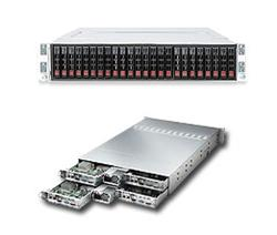 "SUPERMICRO 2U TWIN2 server 4x(2xLGA2011), iC602, 4x(8x DDR3 ER), 4x(6x SAS/SATA HS 2,5""), LSI 2008, 2x1620W , Hot Plug"