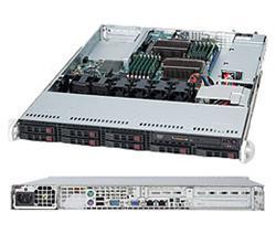 "SUPERMICRO 1U chassis 8x 2,5"" HS SAS/SATA, 600W, WIO"