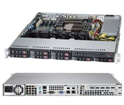 "SUPERMICRO 1U server 2x LGA1356, iC606, 6x DDR3 ECC R, 8x SATA HS (2,5""), 600W, IPMI"