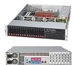 "SUPERMICRO 2U chassis 16x 2,5"" HS SAS/SATA (4x SFF 8087), 1x 5,25"", 2x720W (80PLUS Gold)"