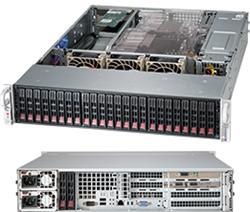 "SUPERMICRO 2U chassis 24x 2,5"" HS SAS/SATA (6x SFF 8087), 2x92W, WIO"