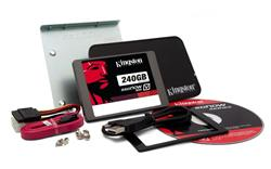 "Kingston SSDNow V300 SSD 240GB SATA III 2.5"" MLC 7mm (čtení/zápis: 450/450MB/s; 85/43K IOPS) Upgrade Bundle Kit"