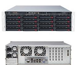 SUPERMICRO 3U SuperStorage server RAID 6Gb/s SAS/SATA 16xHS HDD, HW RAID LSI 2108, 2x920W,IPMI