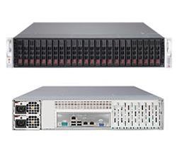 """SUPERMICRO 2U SuperStorage Server 2xLGA 2011, 16xDIMM DDR3 reg.,24x HS 2,5"""" SAS2/SATA3,LSI 2208 (24xport), 2x920W,IPMI"""