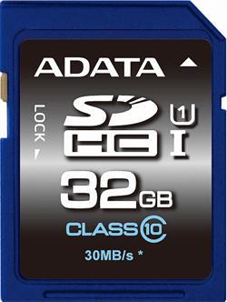 ADATA 32GB Secure Digital (SDHC) class 10/UHS-I Premier