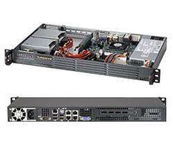 """SUPERMICRO mini1U chassis, 2x 3,5"""" fixed HDD (nebo s MCP-220-00044-0N 4x2,5""""), 200W (Gold)"""