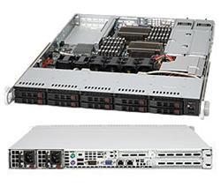 """SUPERMICRO 1U chassis 10x 2,5"""" HS SAS/SATA, 2x700W (80PLUS Gold), UIO"""