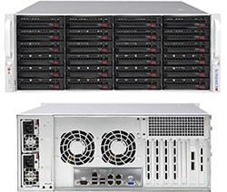 SUPERMICRO 4U SuperStorage server RAID 6Gb/s SAS/SATA 24xHS HDD , HW RAID LSI 2108, 2x920W,IPMI