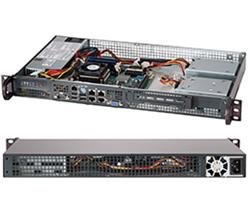 """SUPERMICRO mini1U chassis, 1x 3,5"""" fixed HDD (nebo s MCP-220-00044-0N 2x2,5""""), 200W (Gold) (Front panel)"""