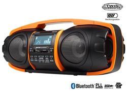 TOPCOM AudioSonic RD-1548 Super Beatblaster,2x10 Watt,2x subwoofer,Li-Ion baterie(7h), BT, FM PLL, USB,SD slot,oranžové