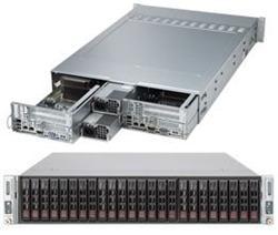 "SUPERMICRO 2U TWIN server 2x(2xLGA2011), iC602, 2x(8x DDR3 ER), 2x(12x SAS/SATA HS 2,5""), LSI 2008, 2x1620W , Hot Plug"