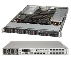 "SUPERMICRO 1U server 2x LGA2011, iC606, 24x DDR3 ECC R, 8x SATA HS (2,5""), 2x700W 80+, 2x1GbE,2x10GbE-T,IPMI, WIO"