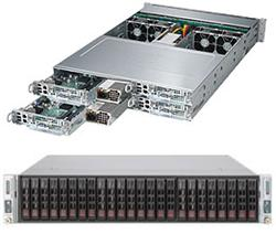 "SUPERMICRO 2U TWIN2 server 4x(2xLGA2011), iC602, 4x(16x DDR3 ER), 4x(6x SAS/SATA HS 2,5""), LSI 3108, 2x2000W , Hot Plug"
