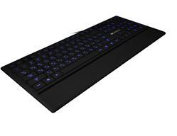 CANYON podsvícená pogumovaná USB klávesnice, tenká, multimediální, český layout