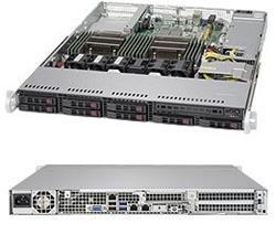 "SUPERMICRO 1U server 2x LGA2011-3, iC612 , 16x DDR4 ECC R, 8x SATA HS (2,5""), 600W, 2x1GbE, IPMI, WIO"
