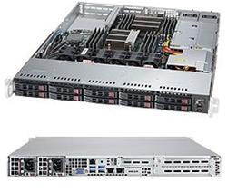 "SUPERMICRO 1U server 2x LGA2011-3, iC612 , 16x DDR4 ECC R, 10x SATA3 HS (2,5""), 2x700W, 2x1GbE, IPMI, WIO"