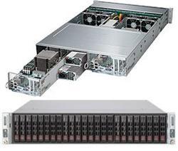 SUPERMICRO 2U TWIN server 2x(2x LGA2011-3),iC602, 2x(16x DDR4 ECC R), 2x(8x SAS3 LSI3108 + 4x SATA3),2x 1280W, IPMI, 2x(1x IB FDR)
