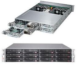 """SUPERMICRO 2U TWIN2 server 4x(2x LGA2011-3),iC612, 4x(16x DDR4 ECC R), 4x(3x SAS3 LSI3108 3,5""""),2x 2000W, IPMI"""