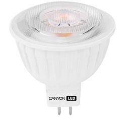 Canyon LED COB žárovka, GU5.3, bodová MR16, 4.8W, 300 lm, teplá bílá 2700K, 12V, 60 °, Ra> 80, 50.000 hod