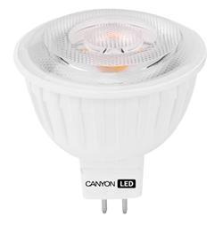 Canyon LED COB žárovka, GU5.3, bodová MR16, 7.5W, 540 lm, teplá bílá 2700K, 12V, 38 °, Ra> 80, 50.000 hod