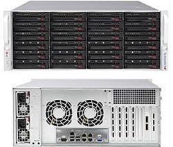 "SUPERMICRO 4U SuperStorage server 2xLGA2011-3,24xDIMM, 24x HS HDD (3,5"") RAID LSI3108, 2x920W,4x 10GBase-T,IPMI"