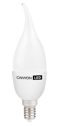Canyon LED COB žárovka, E14, tvar BXS38, mléčná, 3.3W, 250 lm, teplá bílá 2700K, 220-240, 150 °, Ra> 80, 50.000 hod