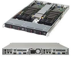"""SUPERMICRO 1U TWIN server 2x(2xLGA2011-3), C612, 2x(8x DDR4 ER), 2x(4x SATA HS 2,5""""), 1000W (Titanium), IPMI"""