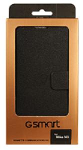 GIGABYTE Kožené flip pouzdro pro model GSmart MIKA M3, černé