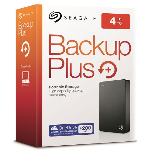 "Seagate Backup Plus Portable 2,5"" - 4TB/USB 3.0/Black"